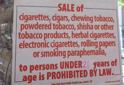 New York relève à 21 ans l'âge pour acheter des cigarettes