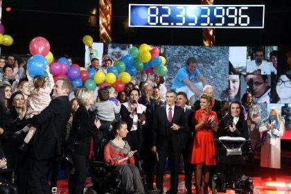 Téléthon 2014: plus de 82 millions d'euros de promesses de dons