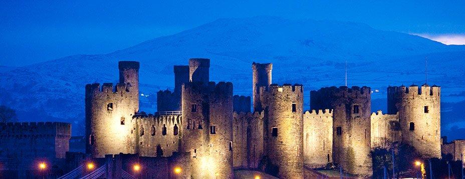 Construit à l'embouchure d'un estuaire, au pied de belles montagnes, Conwy est un lieu enchanteur, sur la côte nord du Pays de Galles.