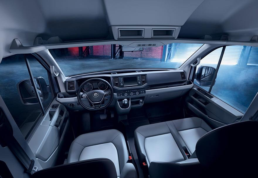 Une cabine conducteur ergonomique et confortable.
