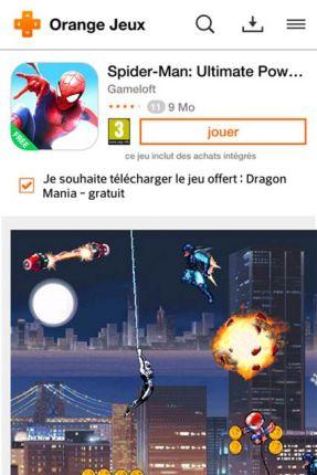 La sélection de jeux d'Orange