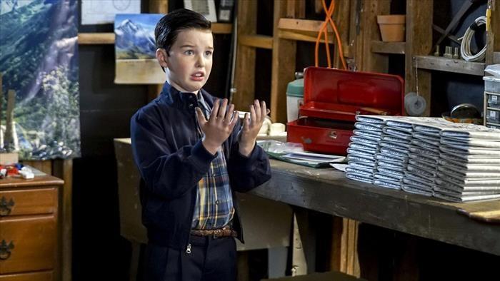 Sheldon livreur de journaux