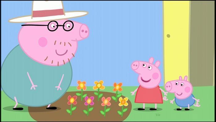 Le jardin de Peppa et George