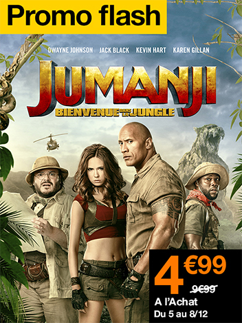 Promo Flash Jumanji : bienvenue dans la jungle