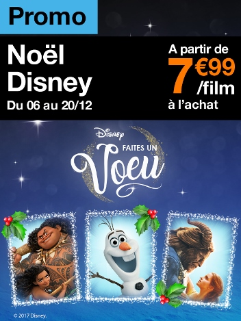 Promo Noël Disney