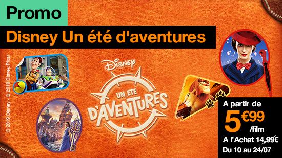 Promo Disney : Un été d'aventures