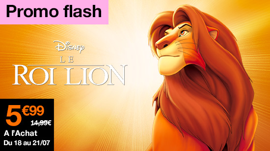 Promo flash Le roi lion