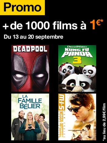 + de 1000 films à 1€