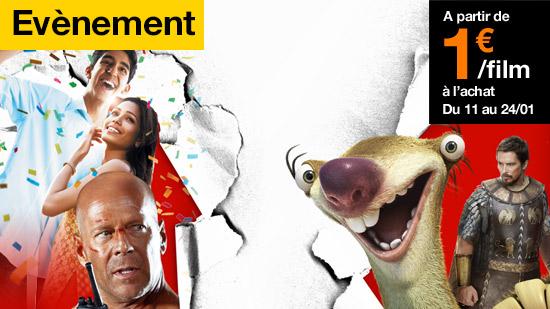 Inédit : films à l'achat à partir de 1euro