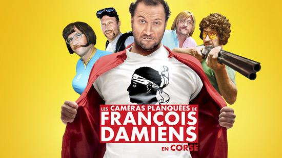 Les caméras planquées de François Damiens...en Corse