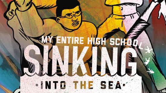 My entire highschool sinking into the sea