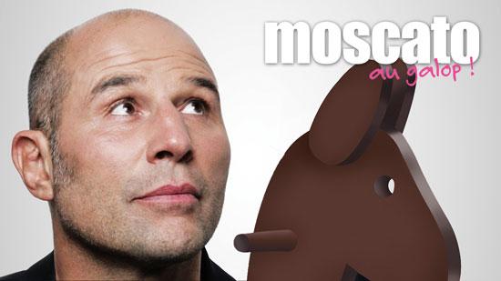 Vincent Moscato au galop