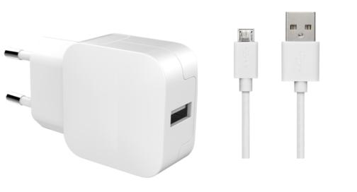 image1_Chargeur Secteur  Bigben USB-A et câble Micro-USB