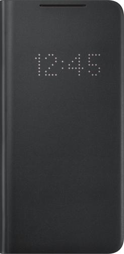 image1_Etui à rabat Led View Samsung Galaxy S21 Plus Noir