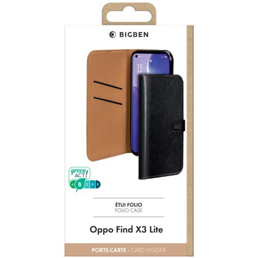 image4_Etui à rabat Wallet pour Oppo Find X3 Lite Noir