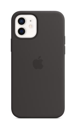 image1_Coque en silicone avec MagSafe pour iPhone 12 et 12 Pro - Noir