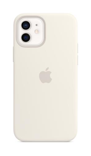 image1_Coque en silicone avec MagSafe pour iPhone 12 et 12 Pro - Blanc