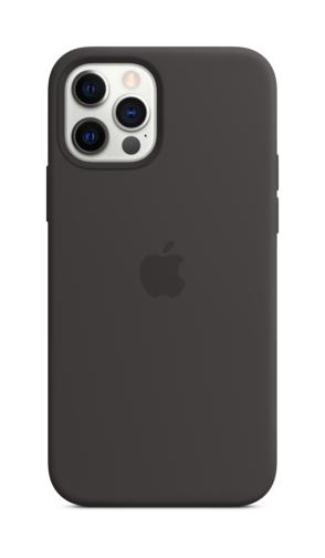 image4_Coque en silicone avec MagSafe pour iPhone 12 et 12 Pro - Noir
