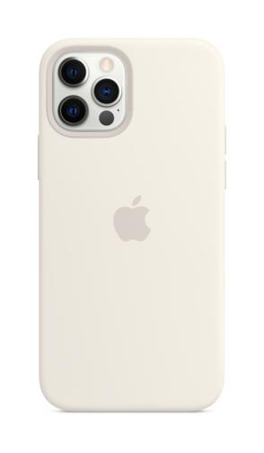 image4_Coque en silicone avec MagSafe pour iPhone 12 et 12 Pro - Blanc