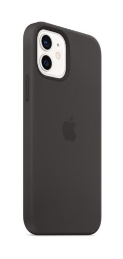 image3_Coque en silicone avec MagSafe pour iPhone 12 et 12 Pro - Noir