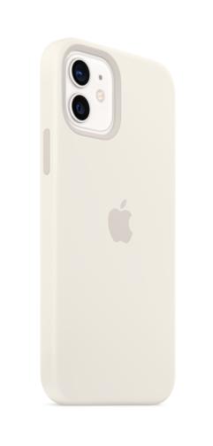 image2_Coque en silicone avec MagSafe pour iPhone 12 et 12 Pro - Blanc