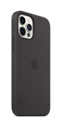 image2_Coque en silicone avec MagSafe pour iPhone 12 et 12 Pro - Noir