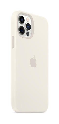 image3_Coque en silicone avec MagSafe pour iPhone 12 et 12 Pro - Blanc