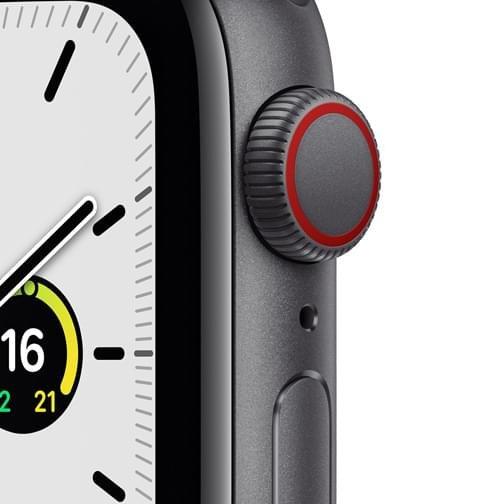 Apple Watch SE Cellular 44mm alu gris sidéral bracelet sport Minuit