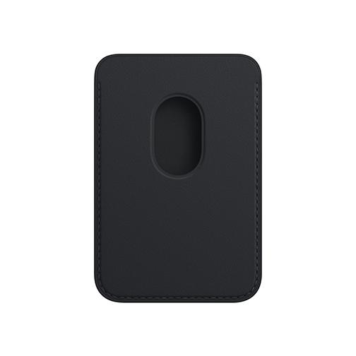 Porte-cartes en cuir avec MagSafe pour iPhone - Noir