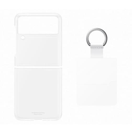 Coque en Silicone avec Anneau pour Samsung Galaxy Z Flip3