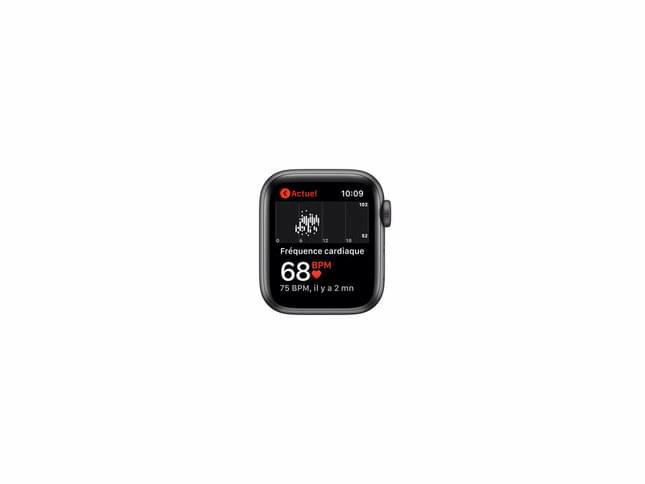 Apple Watch SE Cellular 40mm alu gris sidéral bracelet sport noir