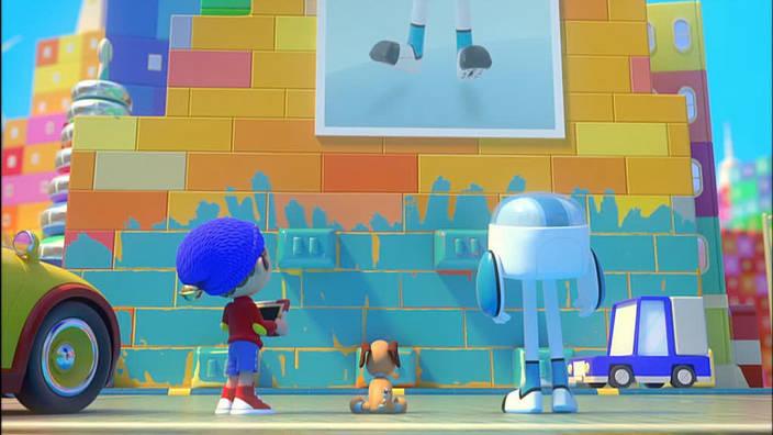 015. L'affaire du mur bleu