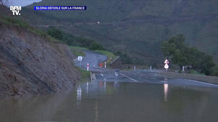 Gloria déferle sur la France
