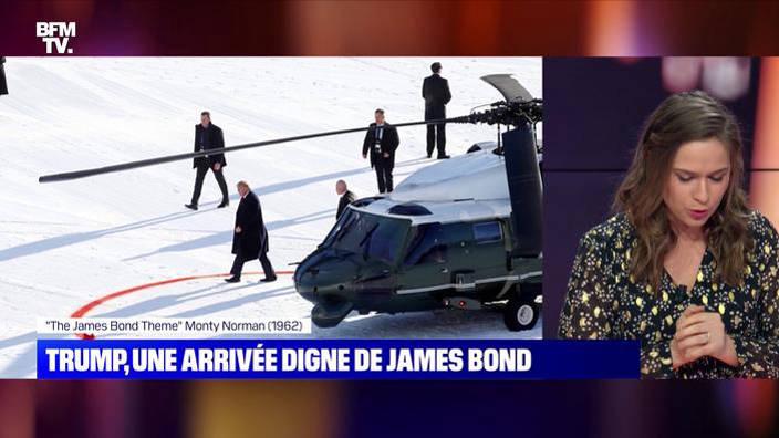 Donald Trump à Davos: une arrivée digne de