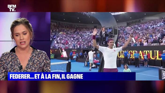 Roger Federer sauve sept balles de match et se