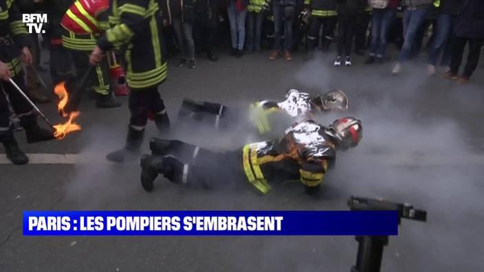 Paris : les pompiers s'embrasent