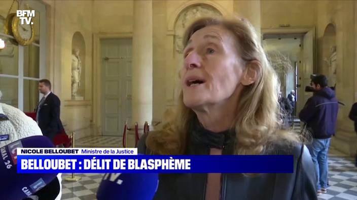 Nicole Belloubet: délit de blasphème