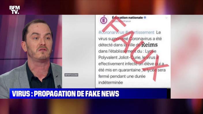 Virus: propagation de fake news