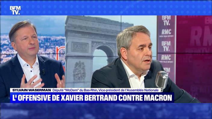 L'offensive de Xavier Bertrand contre Macron