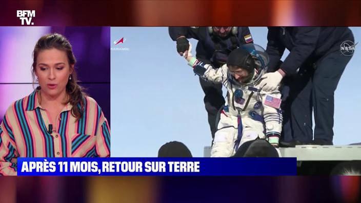 Une astronaute de retour sur Terre après 11