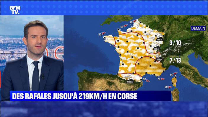 Corse: les vents forts attisent les flammes
