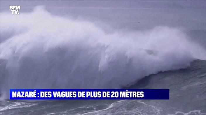 Portugal: des vagues de plus de 20 mètres à