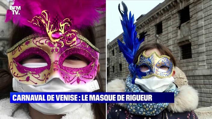 Le masque de rigueur au Carnaval de Venise