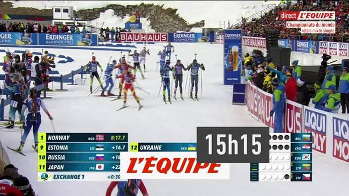 Biathlon : Relais mixte simple des