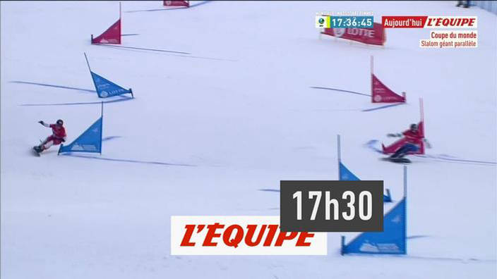 Snowboard : Slalom géant parallèle à