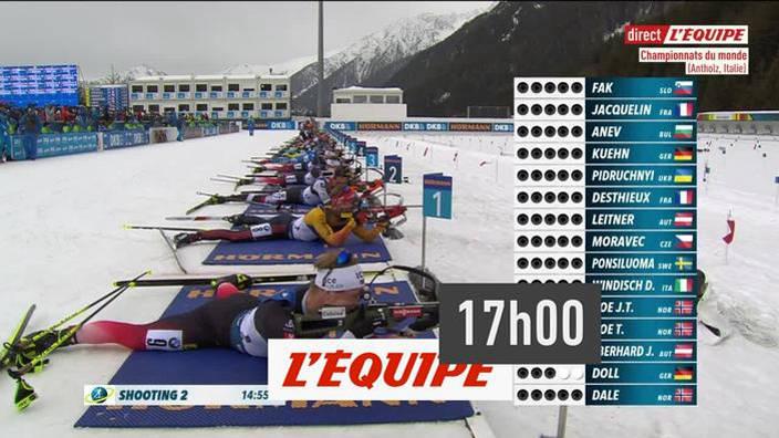 Biathlon : Mass-start hommes des Championnats