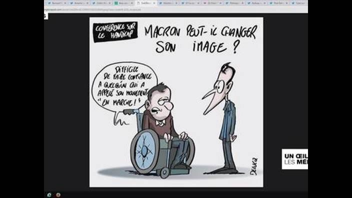 Conférence sur le handicap : Emmanuel Macron taxé