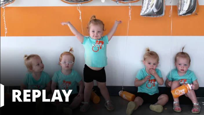 Busby girls : 5 bébés d'un coup ! - La bataille