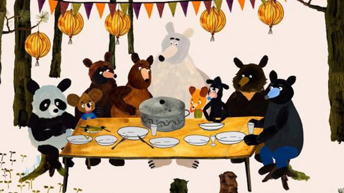 La fête des ours gourmands