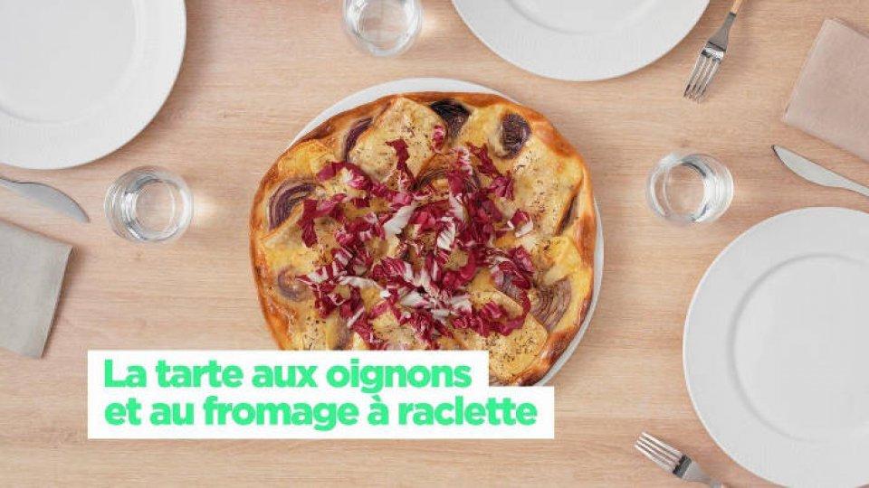 La tarte aux oignons et au fromage à raclette